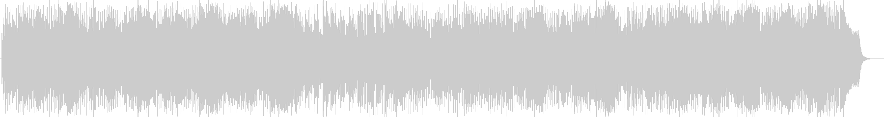 明るいキラキラなシンセサイザーの曲の未再生の波形