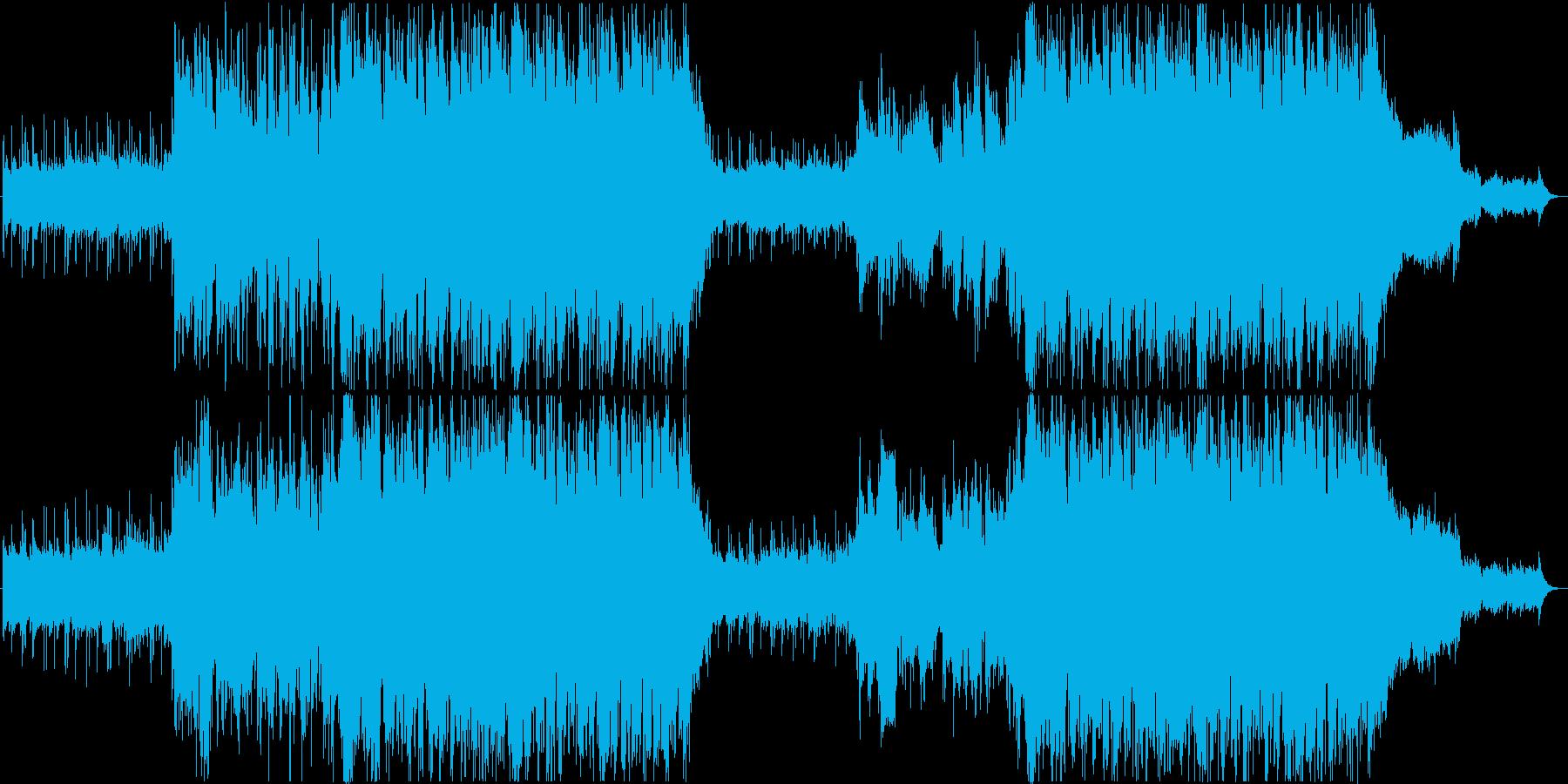 透明感あるフルートの感動BGMの再生済みの波形