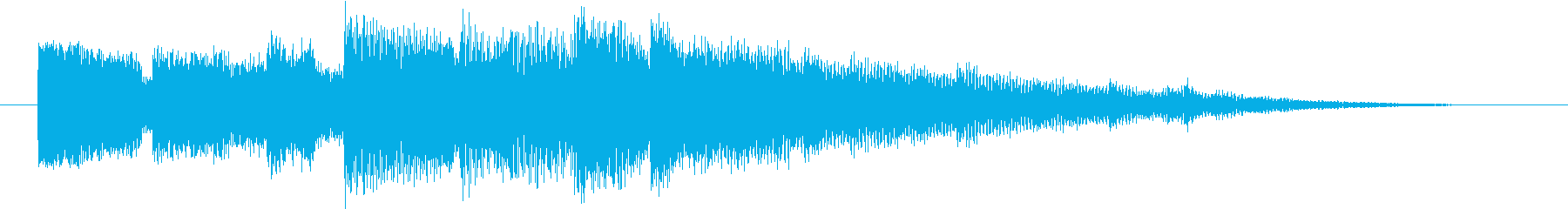 短めのシンプルなジングルの再生済みの波形