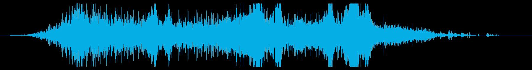 ゴーストスケルトンスペルのアニメートの再生済みの波形