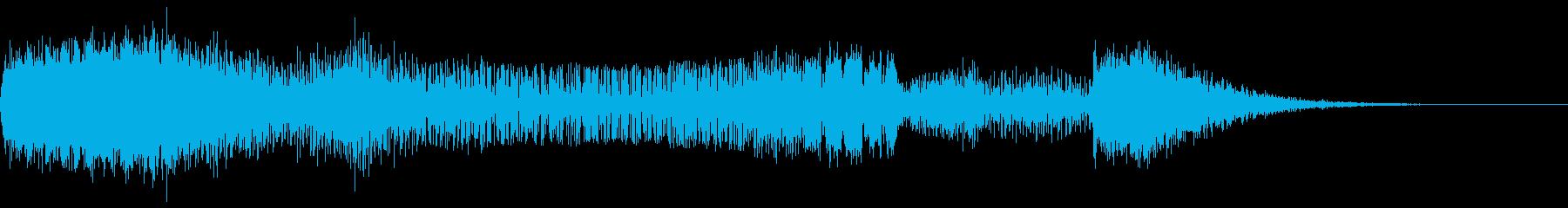 偏向レーザーの再生済みの波形