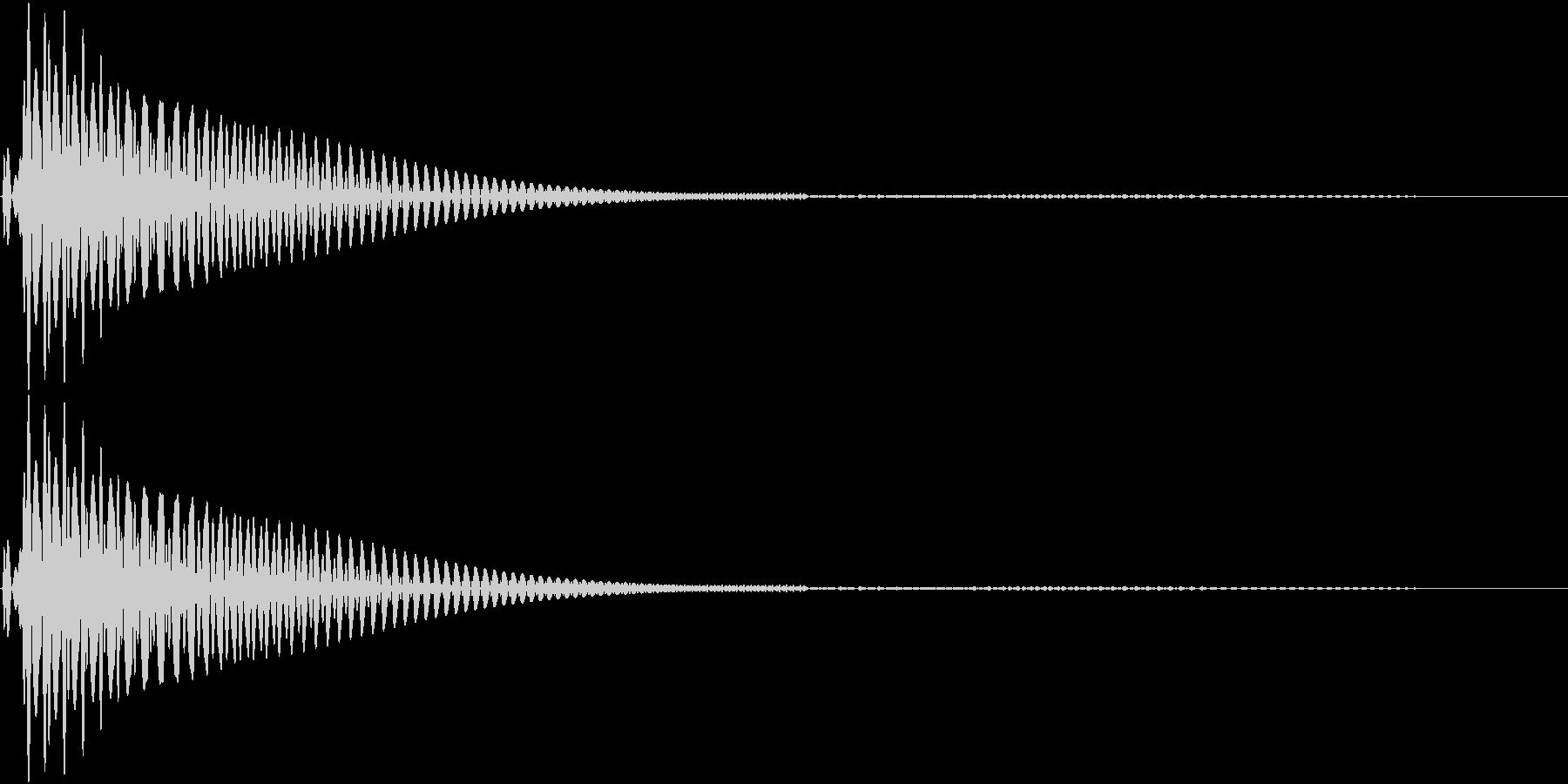ポヨン(操作音 決定 キャンセル)の未再生の波形