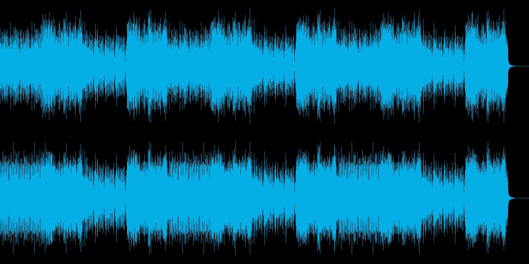 ゲーム内戦闘シーン向けチップチューンの再生済みの波形