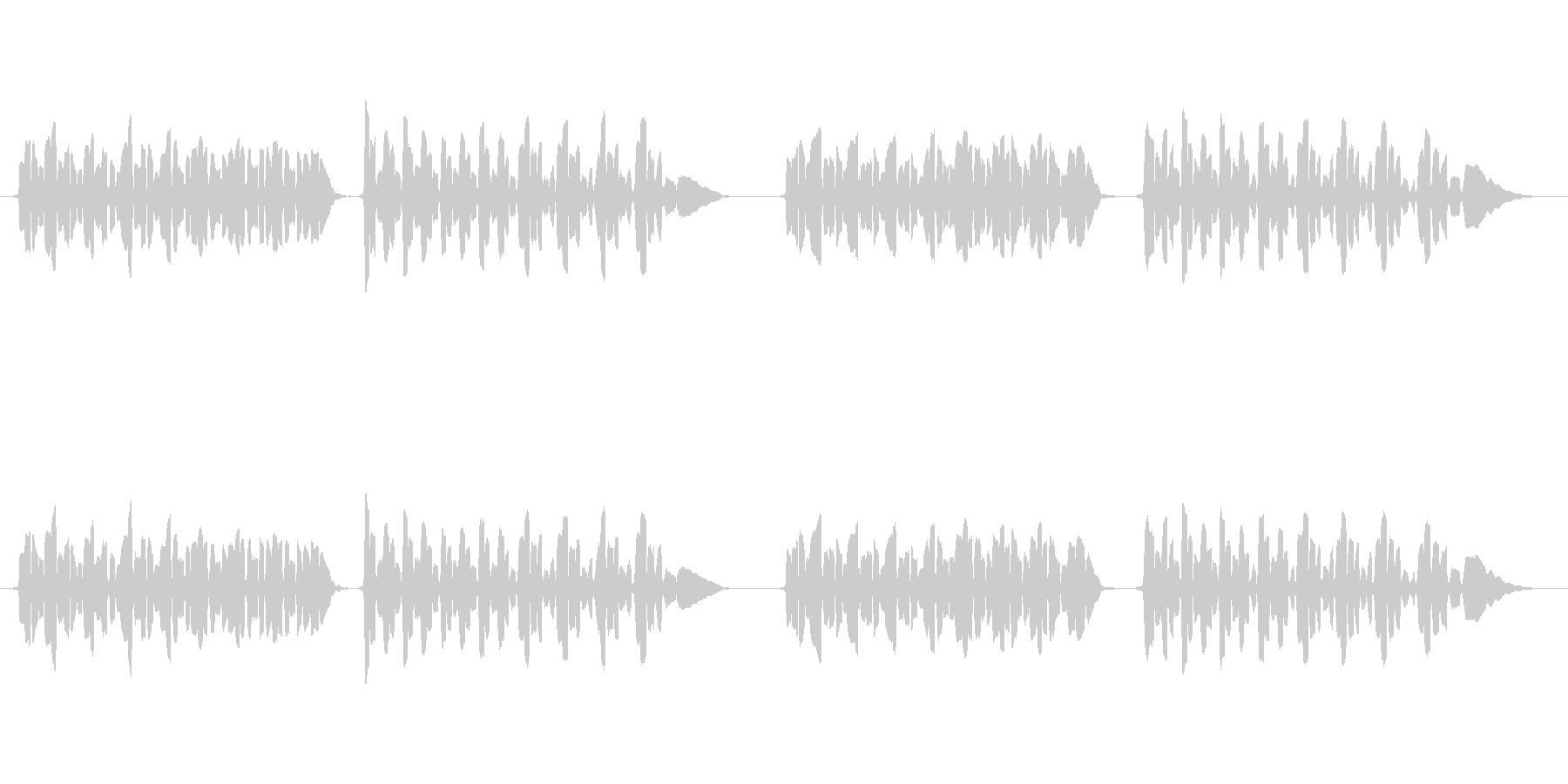 sax1本の曲です。の未再生の波形