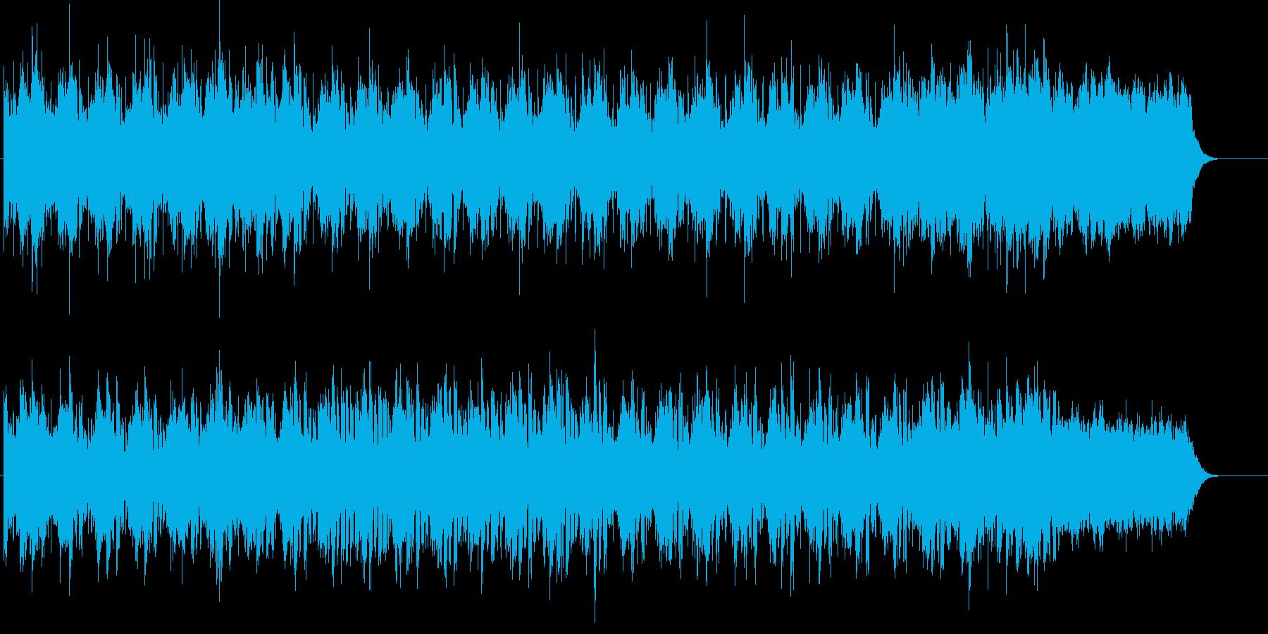不安をはらんだ緊張感のあるBGMの再生済みの波形