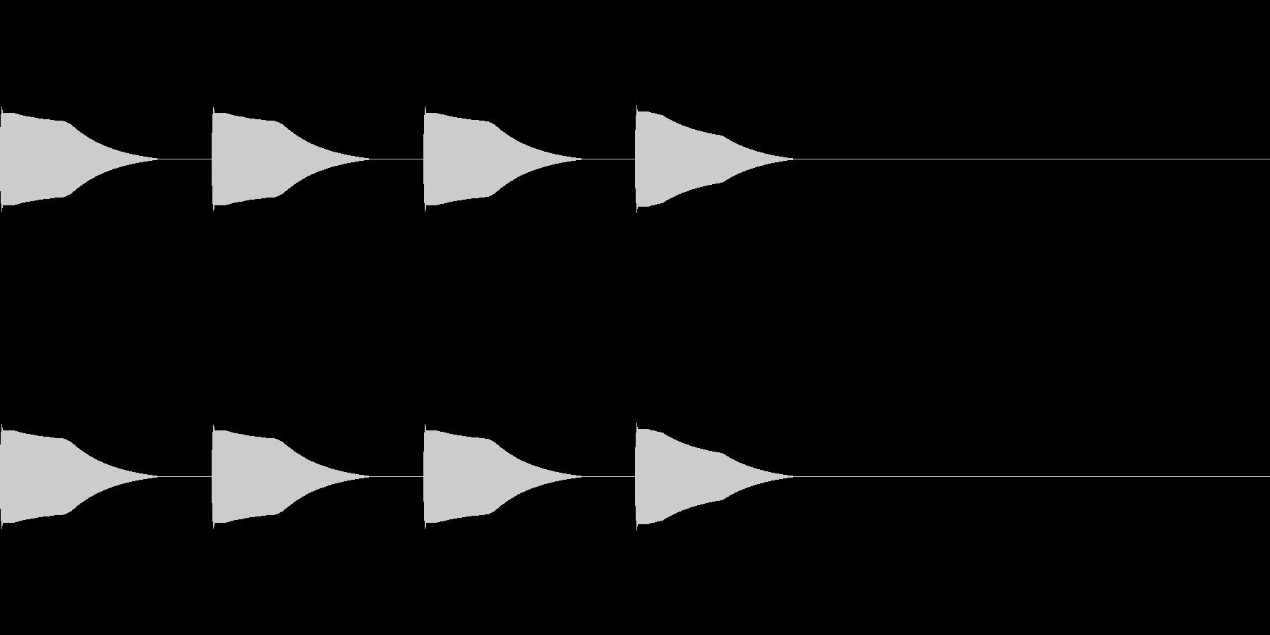 321スタート 電子音 ポーンの未再生の波形