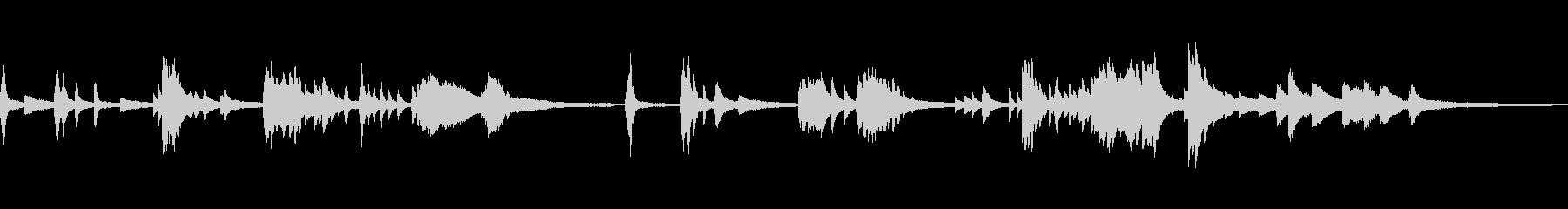 シリアスな和風の雰囲気15-ピアノソロの未再生の波形