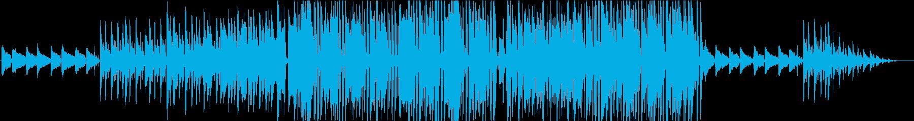 疾走感のあるジャズピアノの再生済みの波形