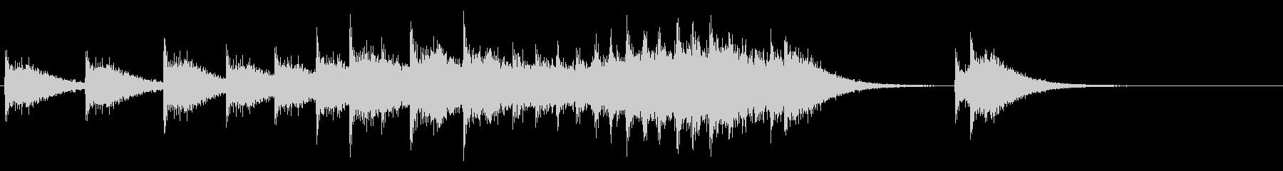 カンカン(鐘の鳴る音の連続)の未再生の波形