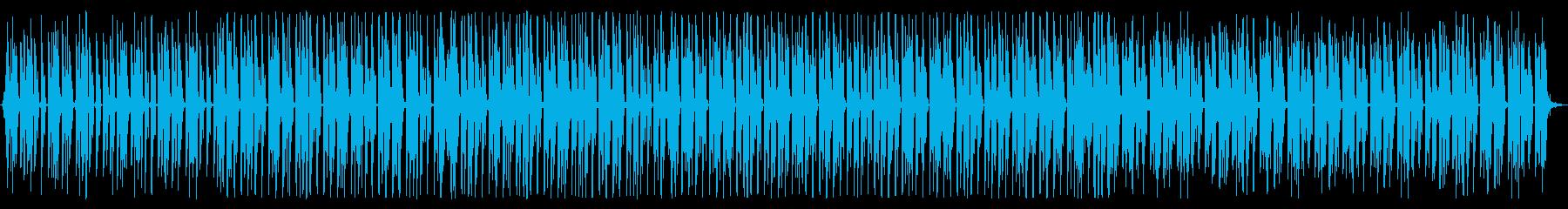 空間的でメタリックなテクノの再生済みの波形