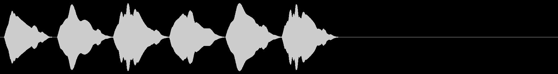 シンプルな効果音 ヒヨヒヨヒヨの未再生の波形