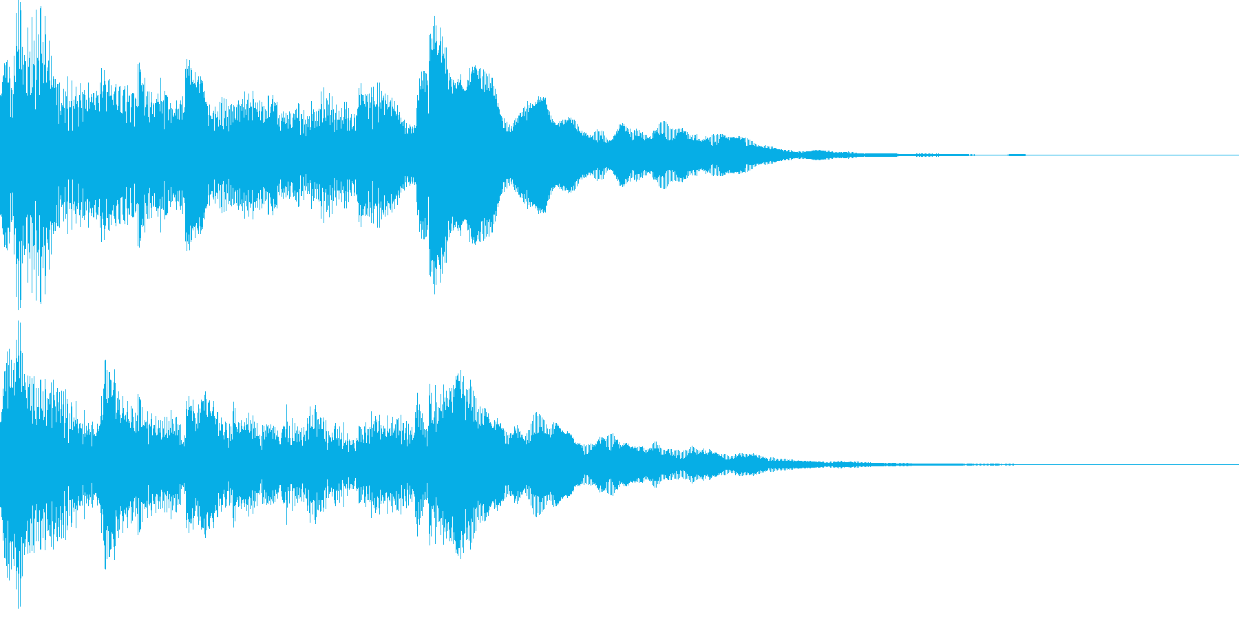 アコギアルペジオによる優しいオープニングの再生済みの波形