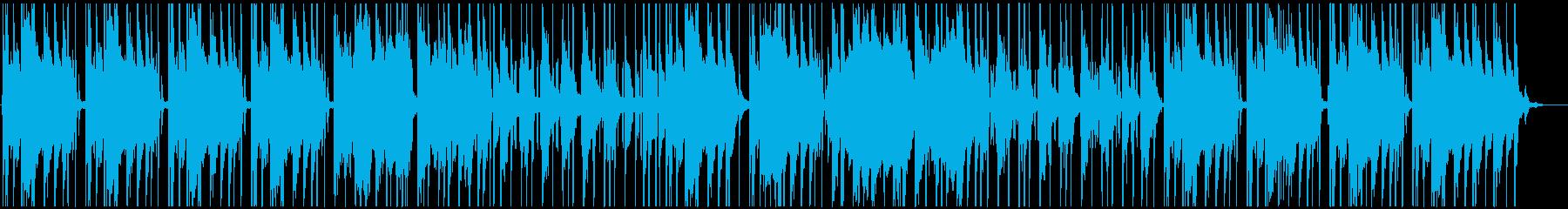 ジャジーなヒップホップトラックの再生済みの波形