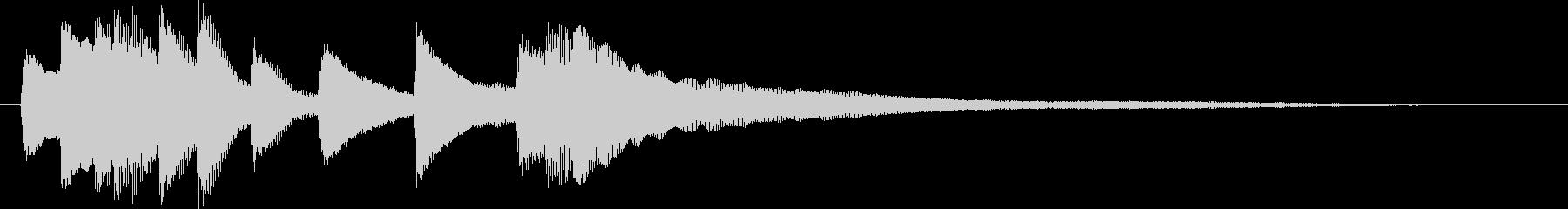 美しいグランドピアノのジングルの未再生の波形