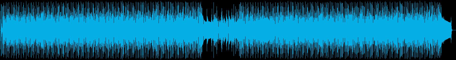 軽快でうきうきわくわくするポップな曲の再生済みの波形
