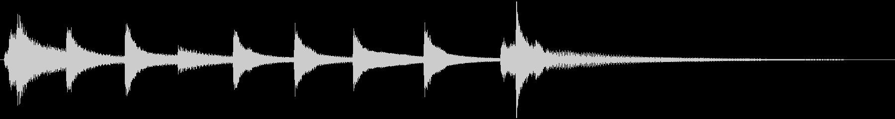 琴の和風ジングル5の未再生の波形