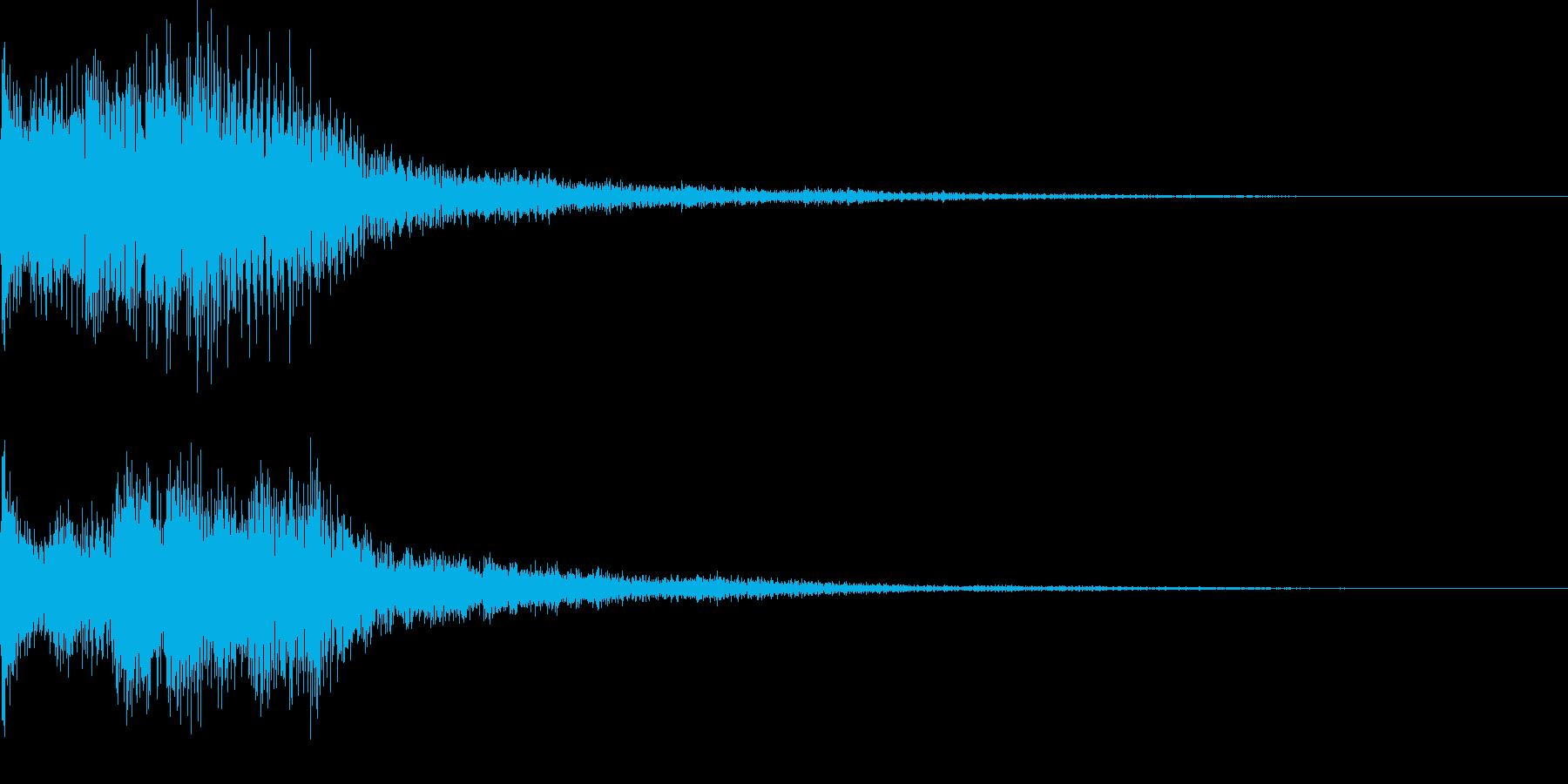 ティロリというキラッとした決定音ですの再生済みの波形