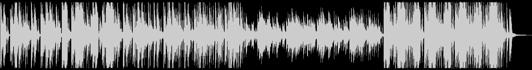 神秘的なオリエンタルBGM(自然音あり)の未再生の波形