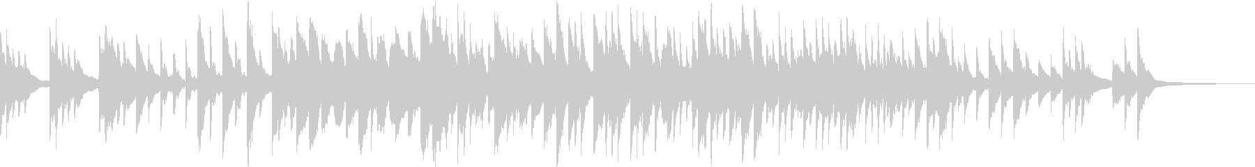 儚げで温もりのあるピアノアンビエント の未再生の波形