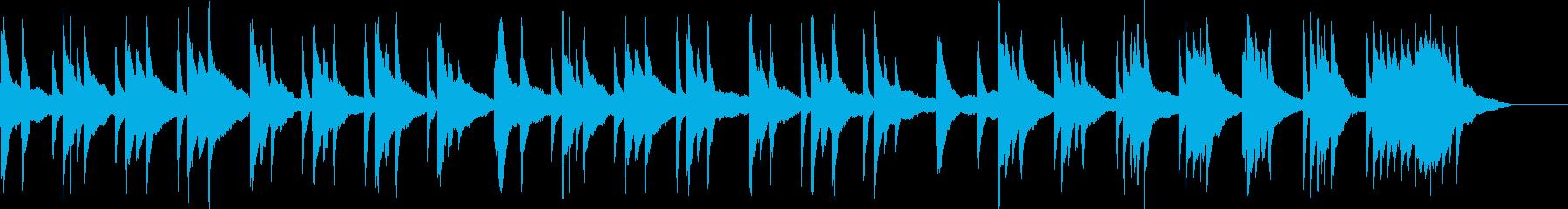 静かな雰囲気のピアノ曲の再生済みの波形