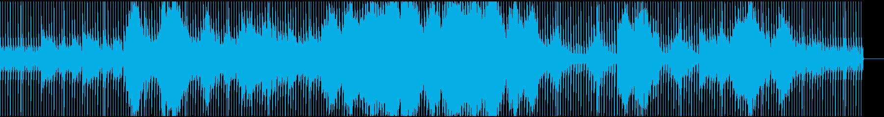 流れるようなストリング、ピアノ(テクノ)の再生済みの波形