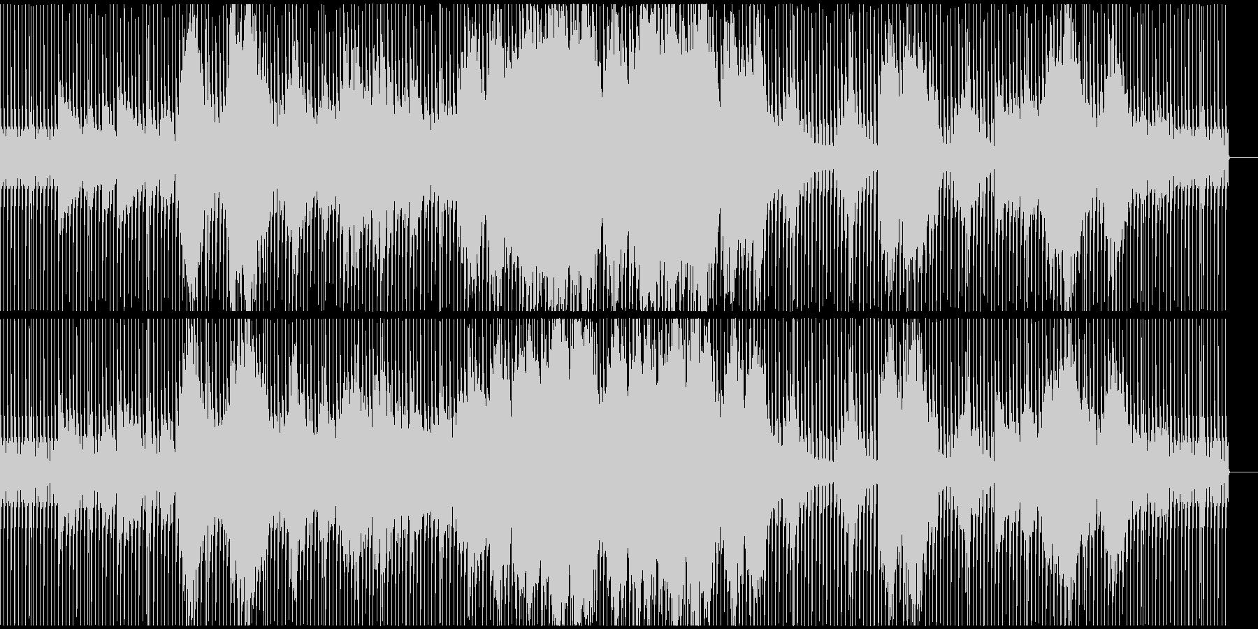 流れるようなストリング、ピアノ(テクノ)の未再生の波形