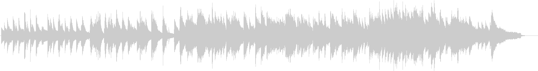 爽やかなイメージのピアノ曲の未再生の波形