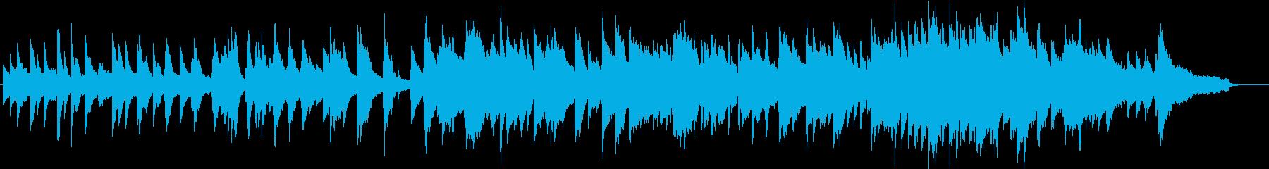 爽やかなイメージのピアノ曲の再生済みの波形