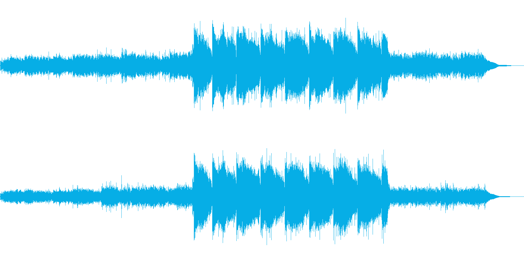 のどかでアコースティックなリスニング曲の再生済みの波形