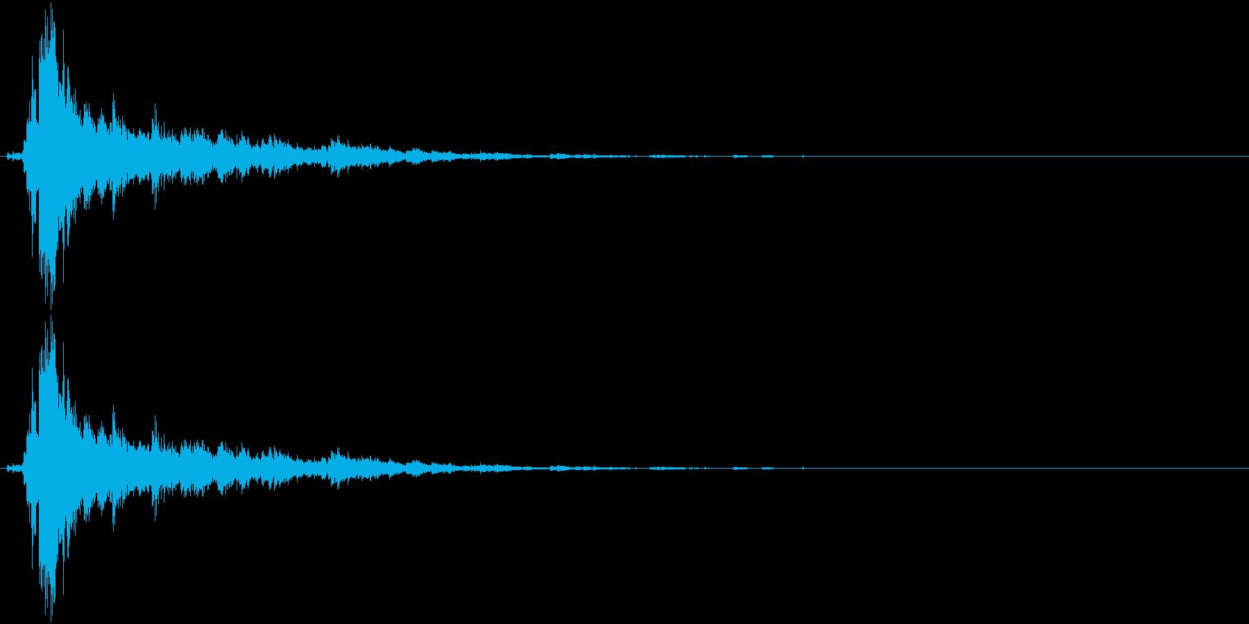 音侍SE「シャン〜〜!」象徴的な鈴の音1の再生済みの波形
