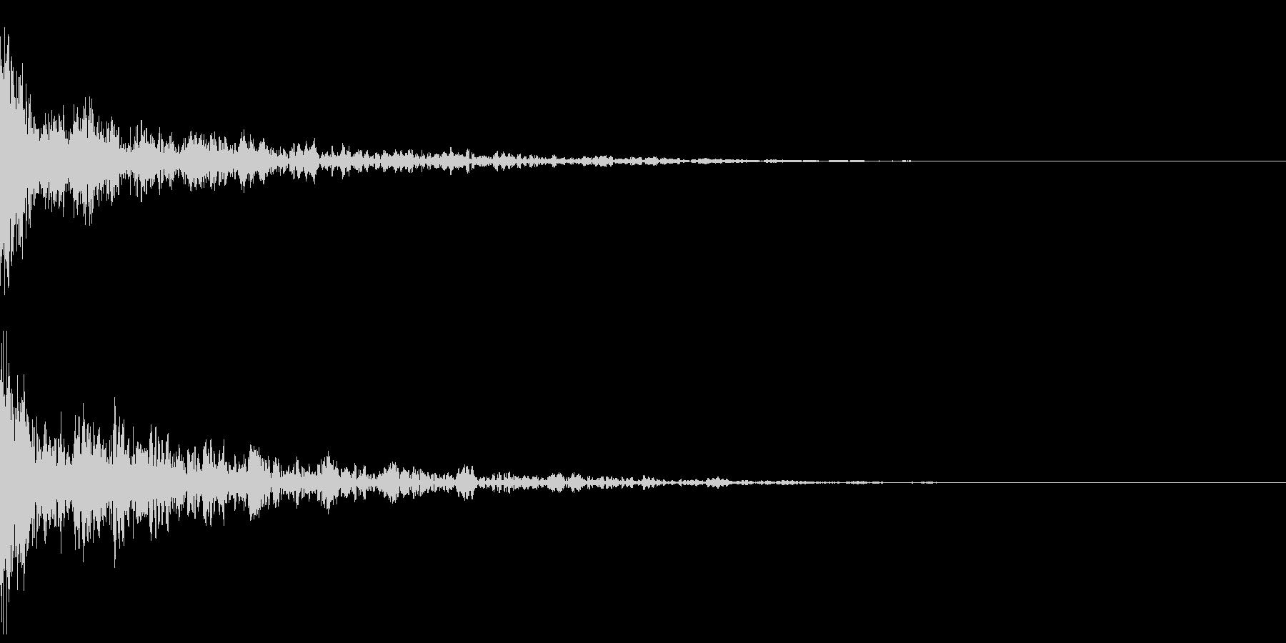 ドーン-43-2(インパクト音)の未再生の波形