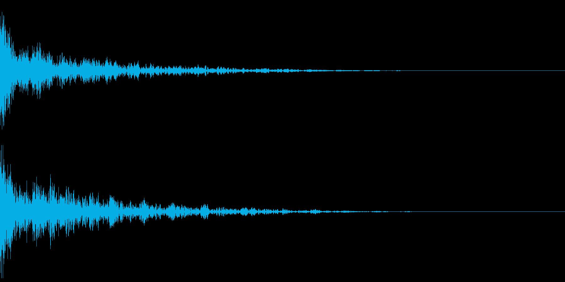 ドーン-43-2(インパクト音)の再生済みの波形
