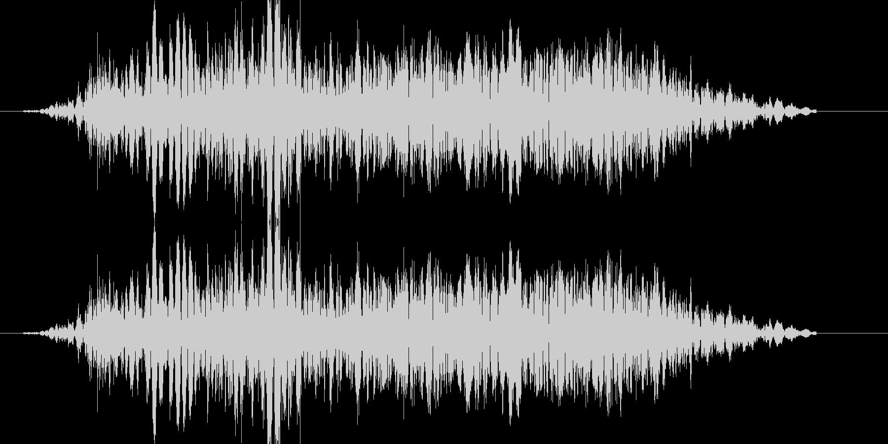 パンチやキックに重い打撃音!04の未再生の波形