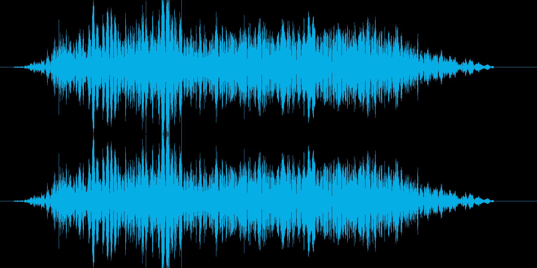 パンチやキックに重い打撃音!04の再生済みの波形