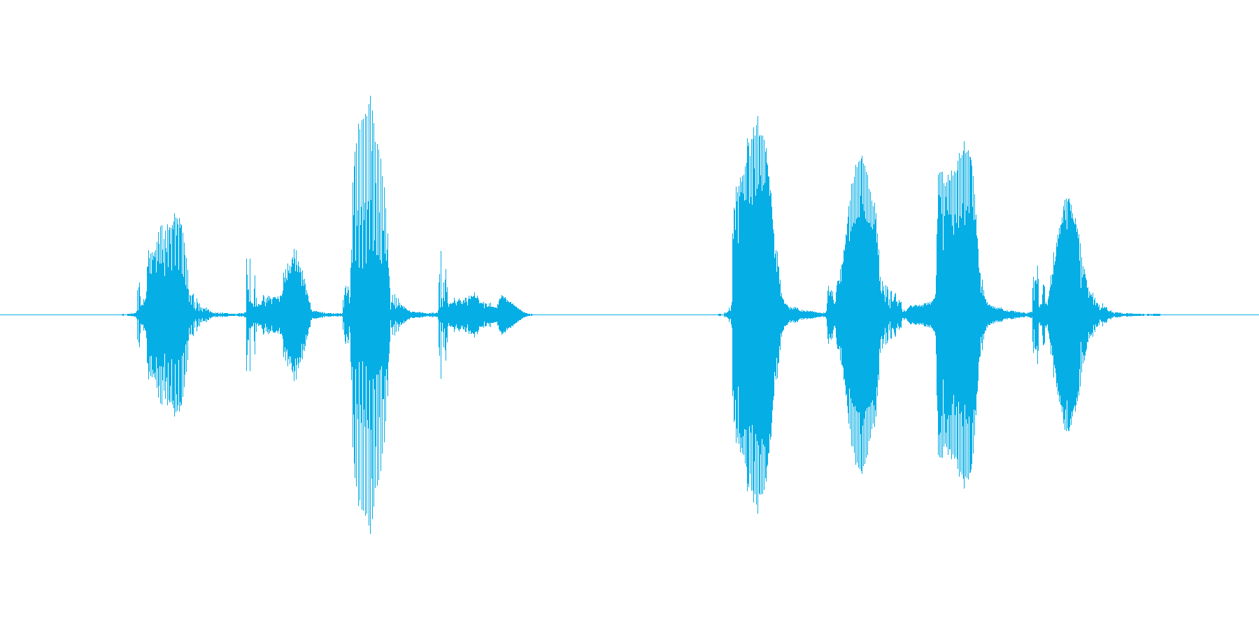 どきどきばくばくの再生済みの波形