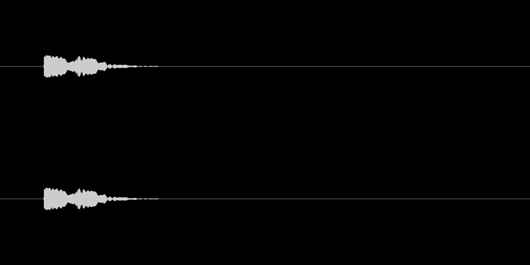 【アクセント27-2】の未再生の波形