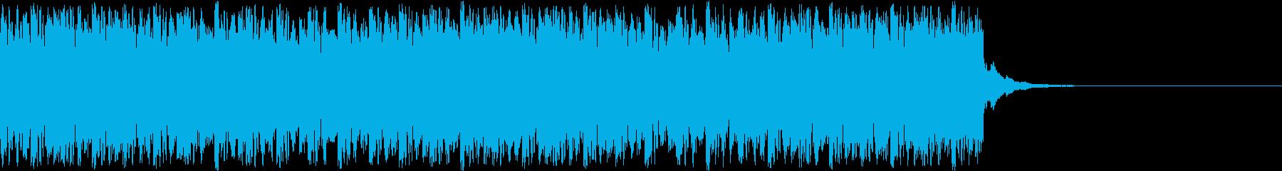 デジタル、CG、SFX等の映像ショート⑪の再生済みの波形