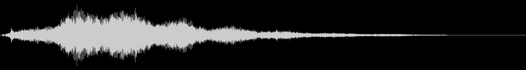 場面切り替え(シーン):SF風の音3の未再生の波形