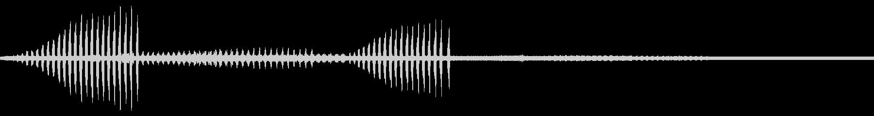 カジカガエルの鳴き声(ソロ)の未再生の波形
