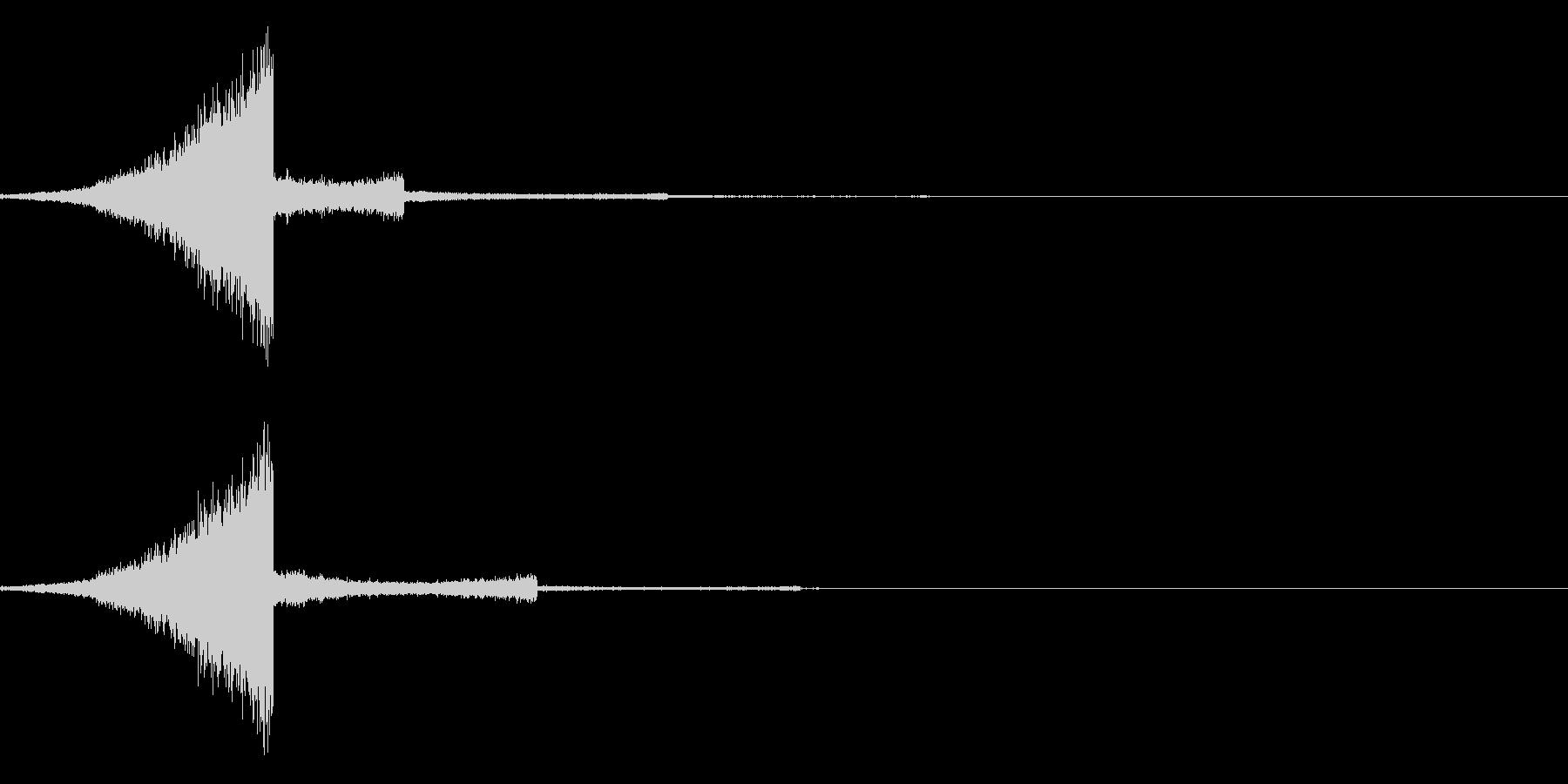 リバースシンバルの未再生の波形