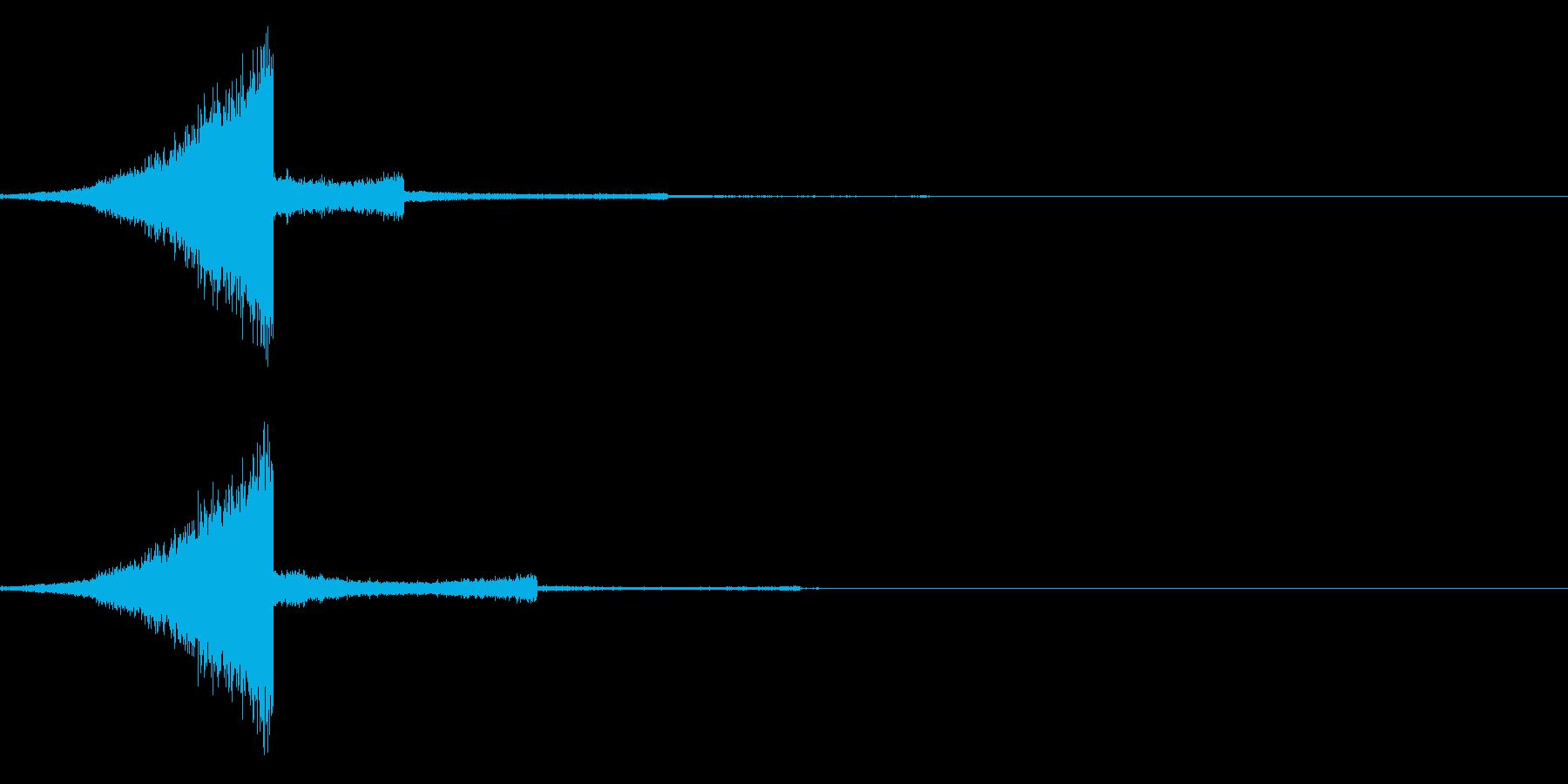 リバースシンバルの再生済みの波形