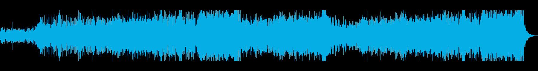 疾走感と緊張感を合わせた4つ打ちの曲ですの再生済みの波形