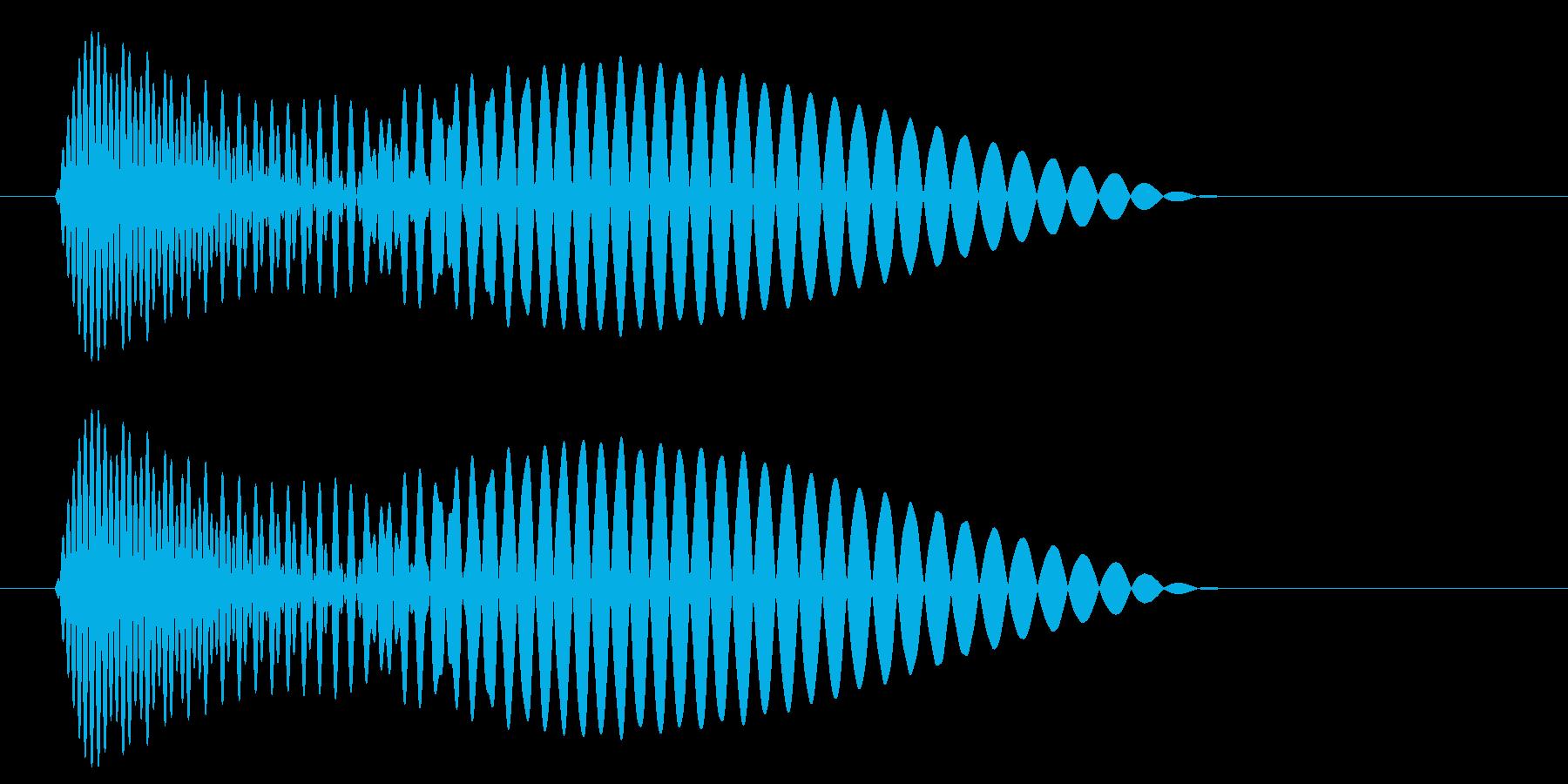 ポン、ポッという短くて低い効果音の再生済みの波形