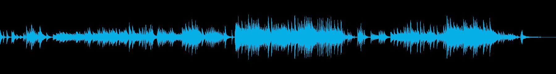 泣けるピアノの感動系BGMの再生済みの波形