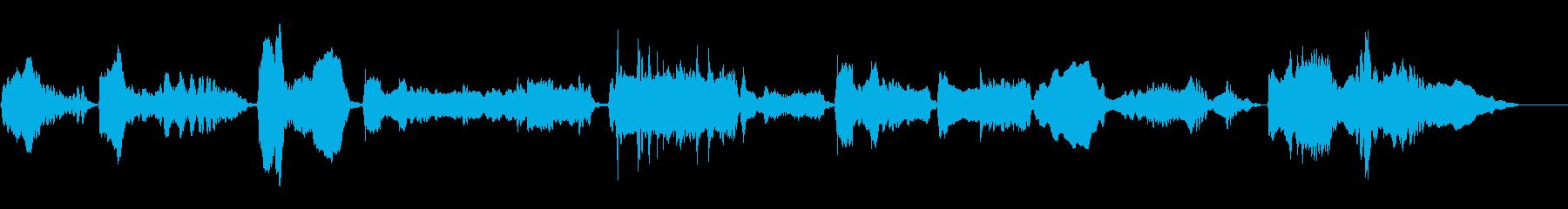 泣き節満載、長めの尺八ソロフレーズの再生済みの波形