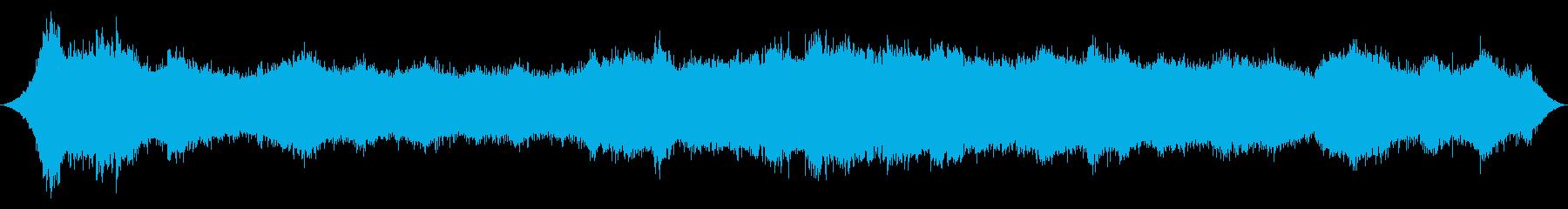 ヤシの木を貫く激しい突風の再生済みの波形