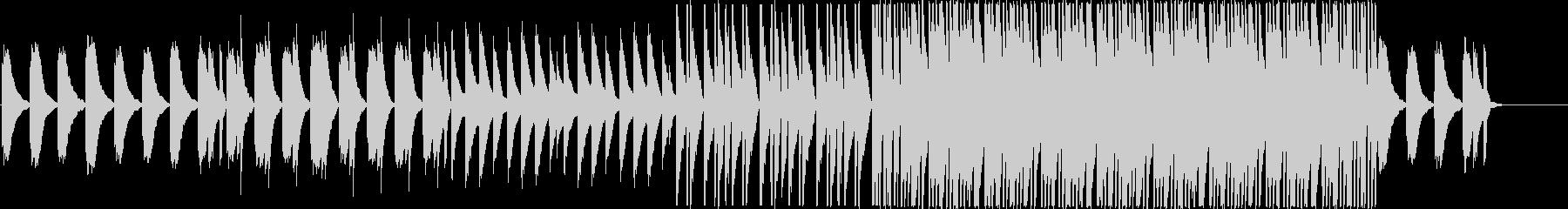 ピアノの優しいメロディーのリラックス曲の未再生の波形