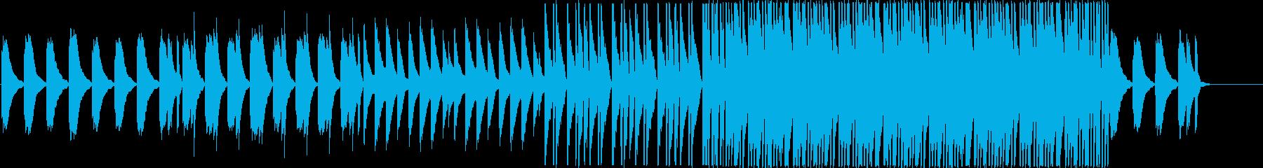 ピアノの優しいメロディーのリラックス曲の再生済みの波形
