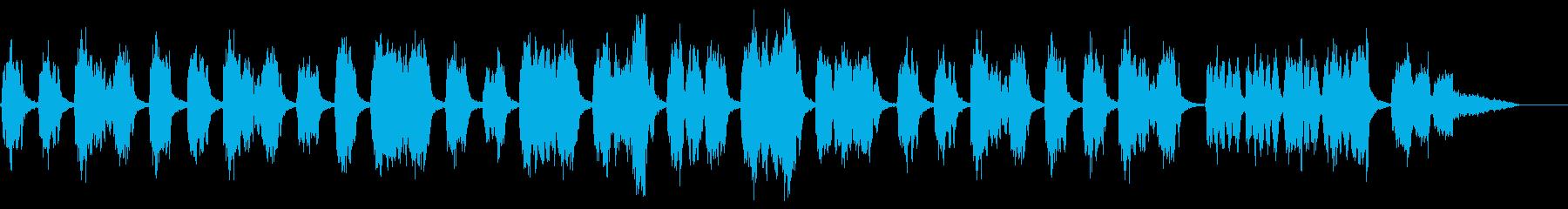 クワイアによる暗めで寂しい感じの楽曲の再生済みの波形
