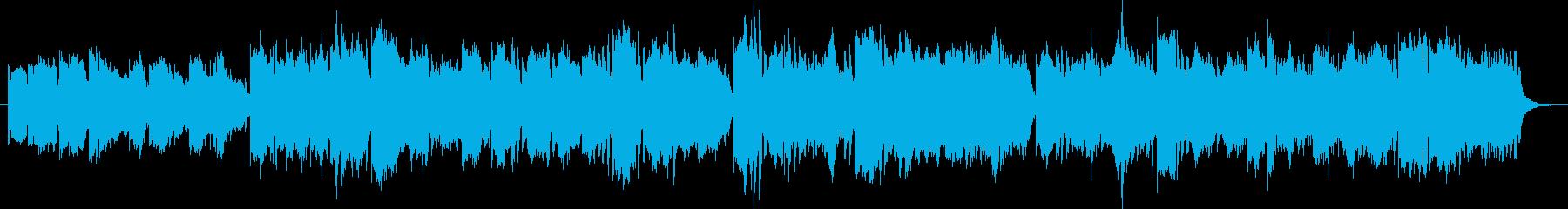 優しく愛らしい軽快なワルツBGMの再生済みの波形